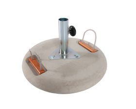 Cape Umbrellas - Cement Base with Electroplated Upstand - Grey