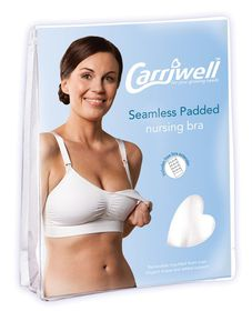 Carriwell - Seamless Padded Adjustable Nursing Bra - White - Size: Extra Large