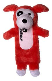 Rogz - Thinz Plush Medium Dog Toy - Red - 26cm