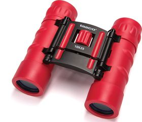 Tasco 10x25 Essentials Roof Binoculars Red