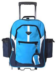 Elegant Large Backpack on Wheels Expandable - Blue
