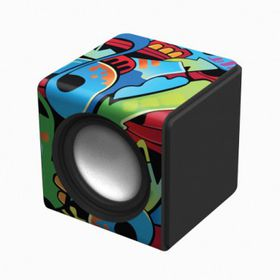 Polaroid Graffiti 1 Wired Sound Cube Black