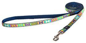 Rogz Fancy Dress Small 11mm Jellybean Fixed Dog Lead - Pop Art Design