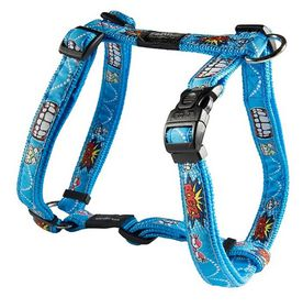 Rogz Fancy Dress Large 20mm Beach Bum Dog H-Harness - Comic Design
