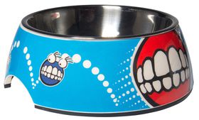 Rogz - 2-in-1 Medium 350ml Bubble Dog Bowl - Comic Design