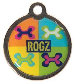 Rogz ID Tagz Small 20mm Metal Tag - Pop Art Design