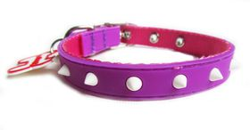 Dog's Life - Non-Toxic PVC Spike Collar Purple - Medium