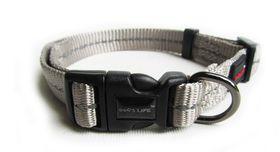 Dog's Life - Reflective Supersoft Webbing Collar - Grey - Large