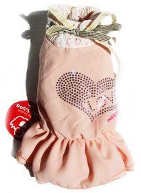 Dog's Life - Love Chiffon Dress Pink - Extra-Small
