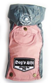 Dog's Life - Summer Rain Jacket - Pink - 2 x Extra-Large