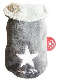 Dog's Life - Star Cape Jacket Grey - Extra Small