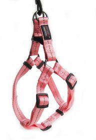 Dog's Life - Reflective Supersoft Webbing Harness Pink - Extra Large