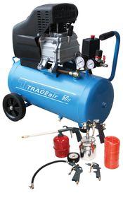TradeAir - 50 Litre Direct Drive Compressor With 5 Piece Accessory Set