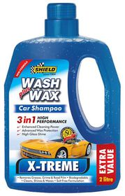 Shield - Xtreme Wash and Wax Car Shampoo With Beads 2L