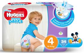 Huggies - Nappy Pants Boy - 34 - Size 4