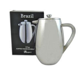 Regent Stainless Steal Cof fee Maker Double Wall Brazil