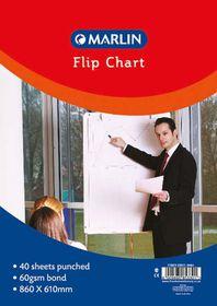 Marlin Flip Chart Paper - Bond 40 Sheets