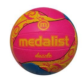 Medalist Dazzle Netball Ball Size 4 - Blue