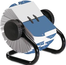 Rolodex A-Z Rotary Open Card File - Blue