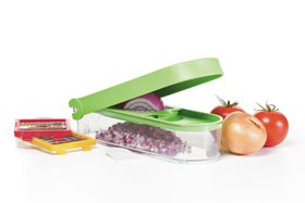 Progressive Kitchenware - Slice and Dice Chopper - Green