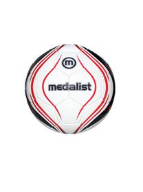 Medalist Club Soccer Ball - White/Red - Size 3