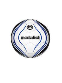 Medalist Club Soccer Ball - White/Blue - Size 4