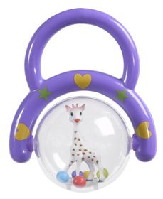 Sophie La Giraffe - Rattle with Handle - Purple
