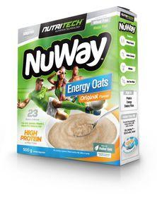 Nutritech Nuway Single Unit: Energy Oats: High Protein Original Smooth 500g