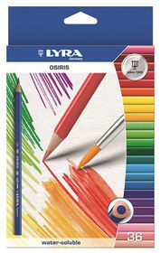 Lyra Osiris Aquarell 36 Colour Pencils + Brush