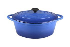 Gourmand 4.5 Litre Oval Cast Iron Casserole - Blue