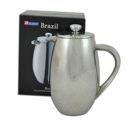 Regent - Coffee Maker Double Wall Stainless Steel Brazil - 350ml