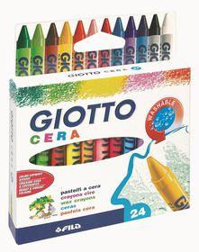 Giotto Cera 24 Wax Crayons