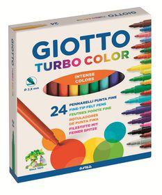Giotto Turbo Color 24 Fine Fibre-Tip Pens
