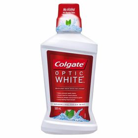 Colgate Mouth Wash Optic White - 500ml