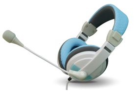 VCOM DE160 Headphone With Microphone 3.5mm Jack - Blue