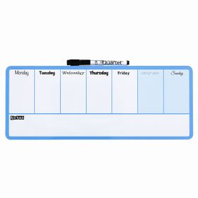 Quartet Magnetic Dry Erase Weekly Organiser - Blue