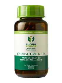 Flora Force Chinese Green Tea - 90 Capsules