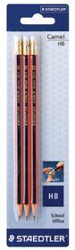 Staedtler Camel HB Pencils with Rubber Tip - 3 Pack