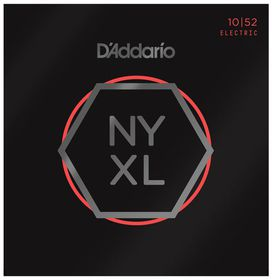 D'Addario NYXL1052 Nickel Wound Light Top/Heavy Bottom Electric Guitar Strings - 10-52