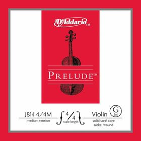 D'Addario Prelude Medium Tension 4/4 Scale Violin G Single String