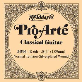 D'Addario J4506 Pro-Arte Normal Tension Nylon Classical Guitar Single String - E Sixth String