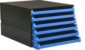 Bantex Texo Modular 6 Drawer Storage System - Cobalt Blue
