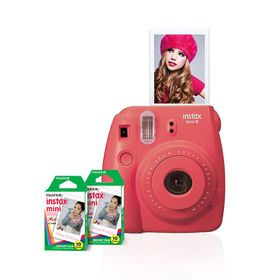 Fujifilm Instax Mini 8 Camera Value Bundle Rasberry