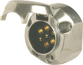 Moto-Quip - Metal Trailer Socket - Female 7 Pin