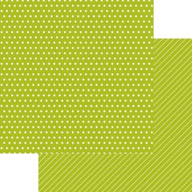 Lady Pattern Paper Basic Essentials Little Star - Green Chartreuse (10 Sheets)