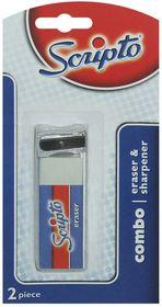 Scripto Eraser & Sharpener Combo