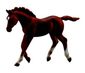 Collecta Horses-Thoroughbred Foal Walking - Chestnut-M