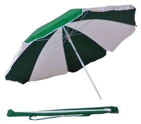 St Umbrella - Beach Umbrella - Emerald Green and White