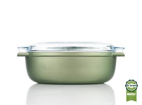 Risoli Dr Green Oval Roast Pan with Glass Lid - 36cm x 24cm