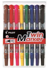 Pilot Twin Markers - Wallet of 8 Colours